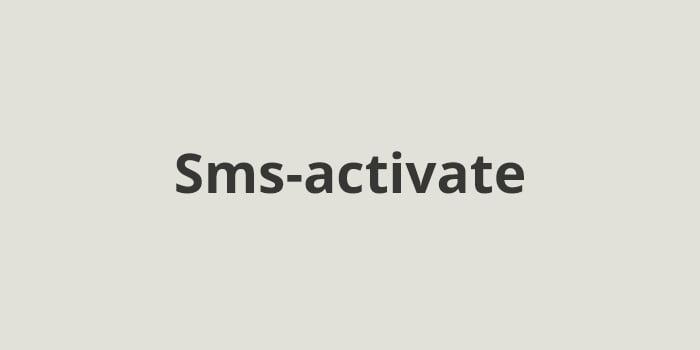 Сервис смс активаций Sms-activate.ru